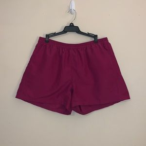 The North Face purple shorts